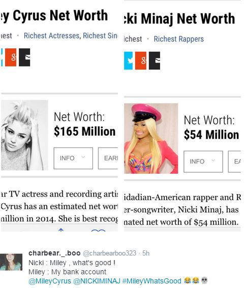 miley cyrus vs nicki minaj